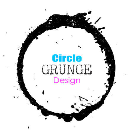 and element: Grunge circle design element