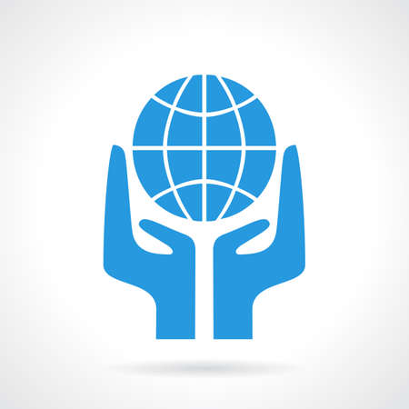 making earth: Earth supporting hands icon
