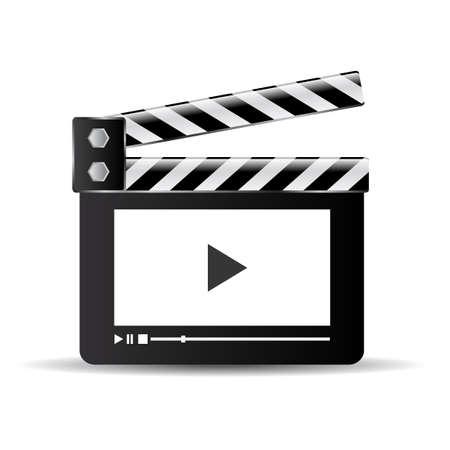 window bars: Clapper video icon
