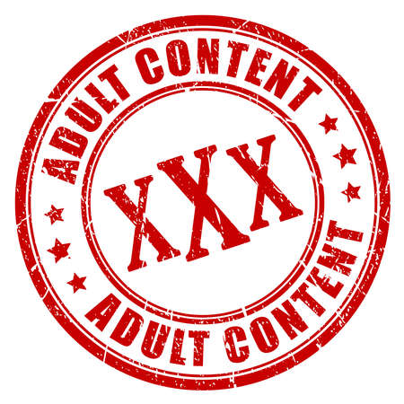Adult content rubber stamp Иллюстрация