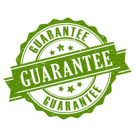 Guarantee ribbon stamp Stock Illustratie