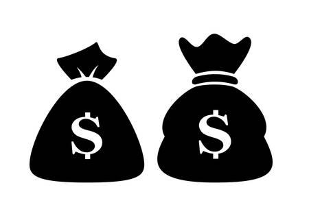 dollar icon: Money bag dollar icon