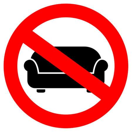 lying: No lying on sofa sign