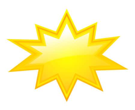 Žlutá prasknutí hvězdy Ilustrace
