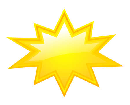 cartoon star: Yellow bursting star