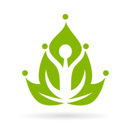 kundalini: Green yoga meditation icon