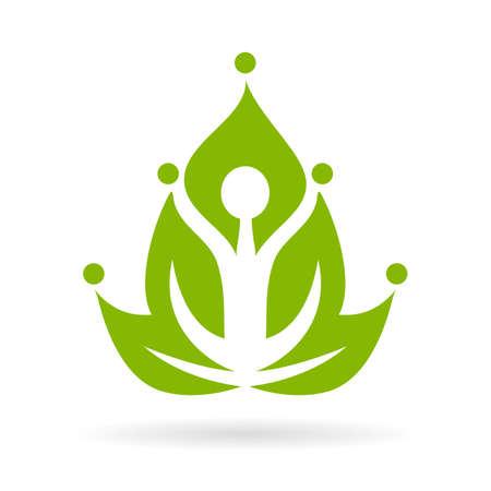 sacral symbol: Green yoga meditation icon