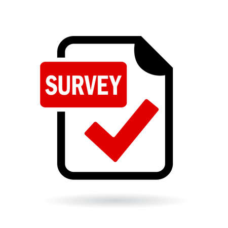 Survey red icon