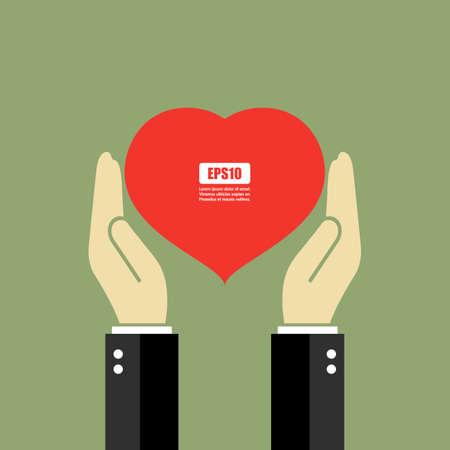 hands holding heart: Hands holding heart poster