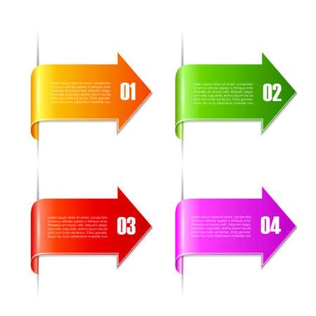 texts: Arrow text ribbons set