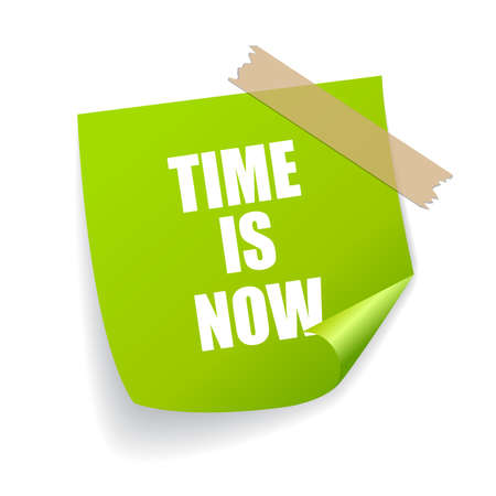 positive note: Time is now sticker