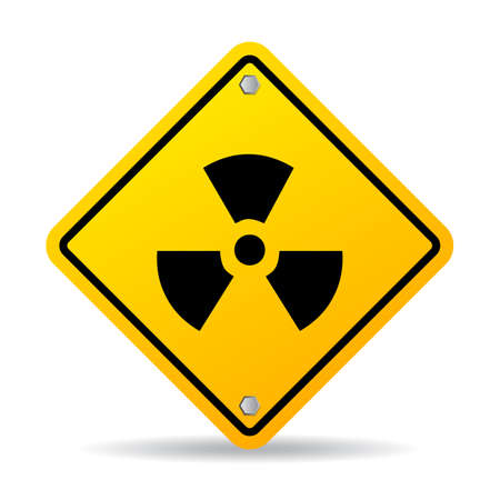 perilous: Radioactive danger sign Illustration