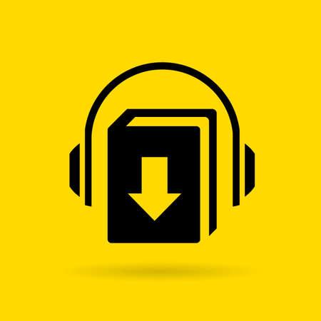 downloading: Audiobook vector icon