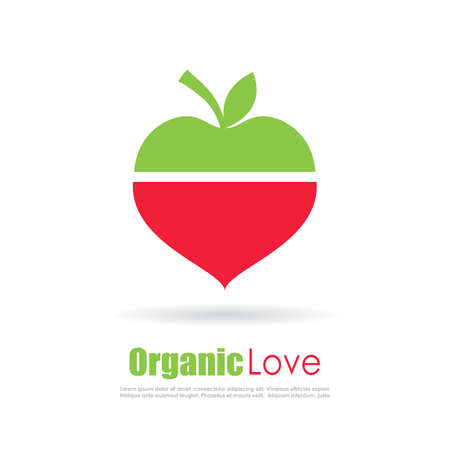 grown with love: Organic food conceptual