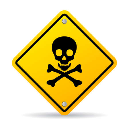 rentgen: Skull danger sign Illustration