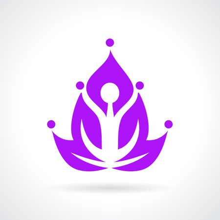 Yoga lotus abstract icon