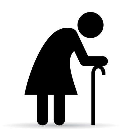 elder: Elder woman icon