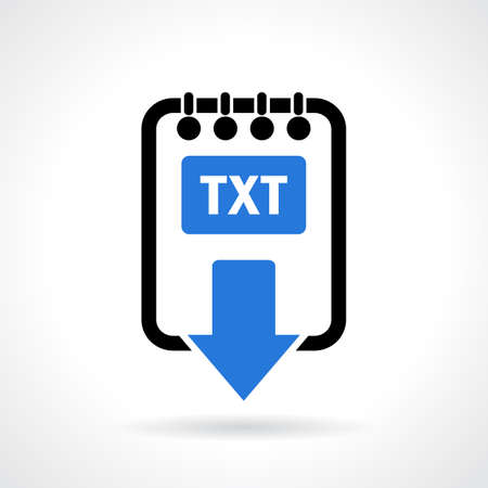 txt: Text file download icon Illustration