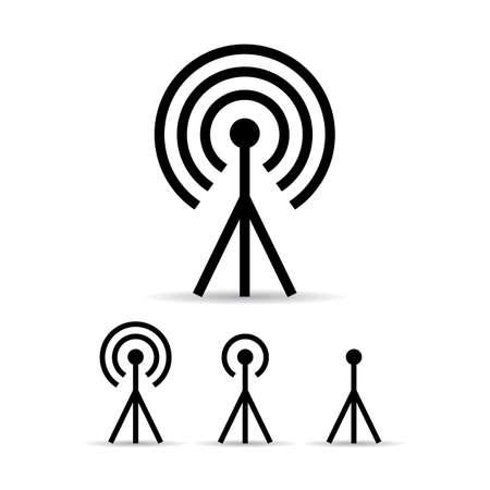 radio mast: Internet signal antenna icon