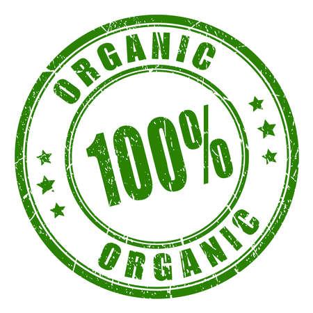 hundred: 100 organic rubber stamp