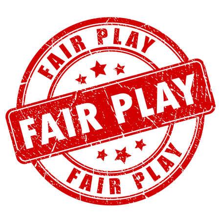 football play: Fair play rubber stamp