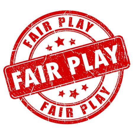 fair play: Fair play rubber stamp