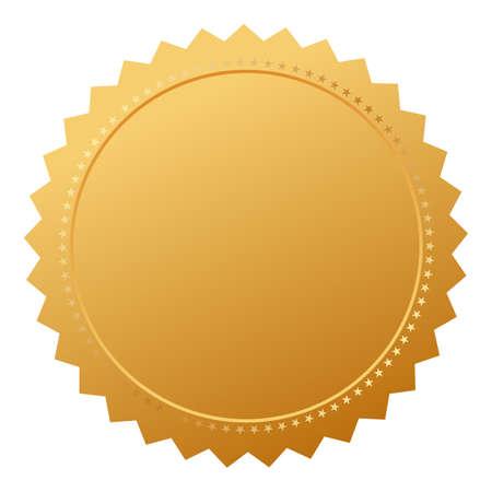 signatory: Blank agreement gold seal