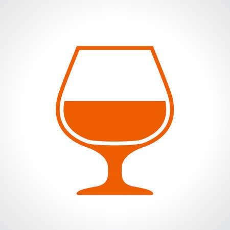 cognac: Glass of cognac