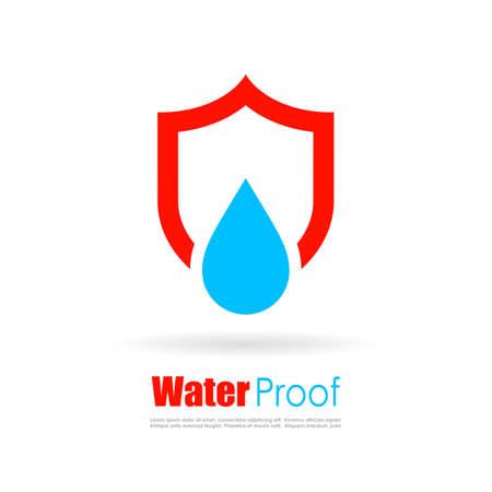 Waterproof vector logo