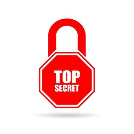 Top secret icon Vector Illustratie