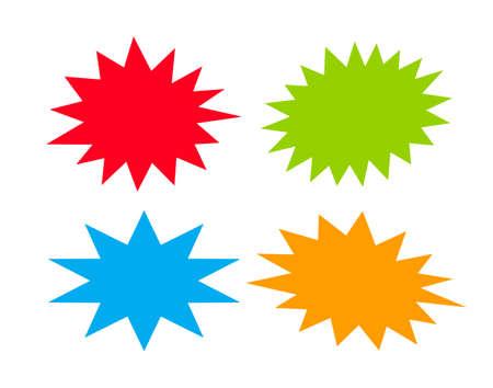 estrella caricatura: Estallando estrellas del habla Vectores