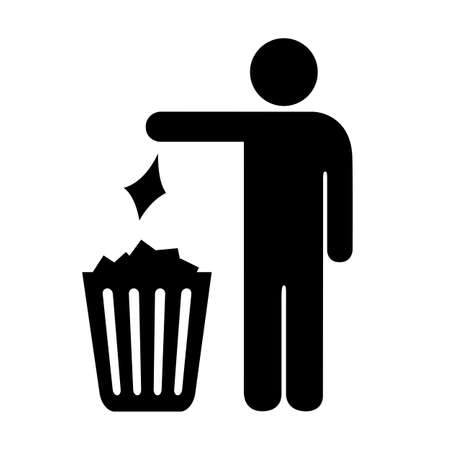 Use trash can vector sign