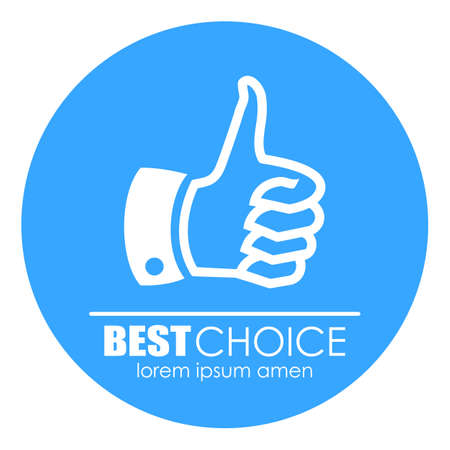 most popular: Thumb up best choice icon