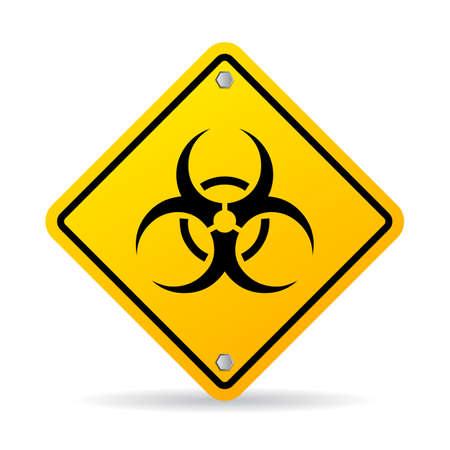 caution chemistry: Biohazard vector sign