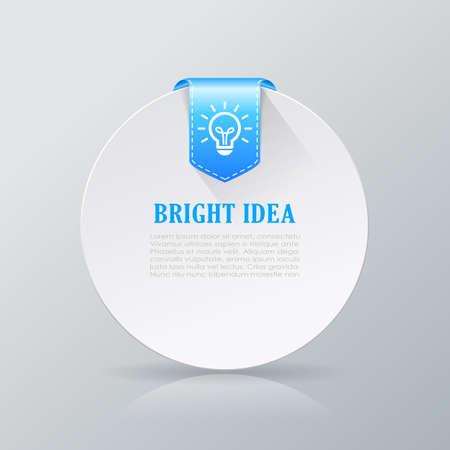 bright idea: Bright idea info card Illustration