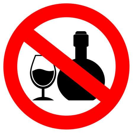 no alcohol: No alcohol sign Illustration
