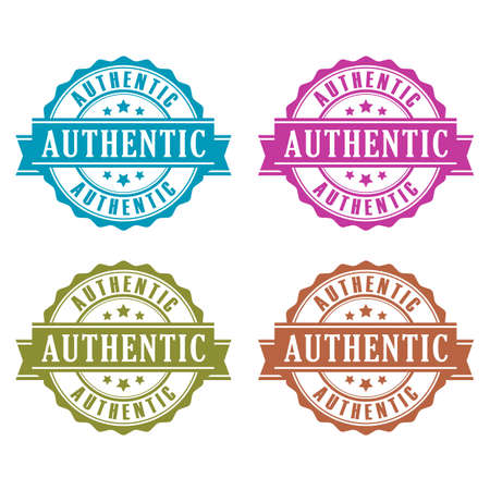 authentic: Authentic product icons set
