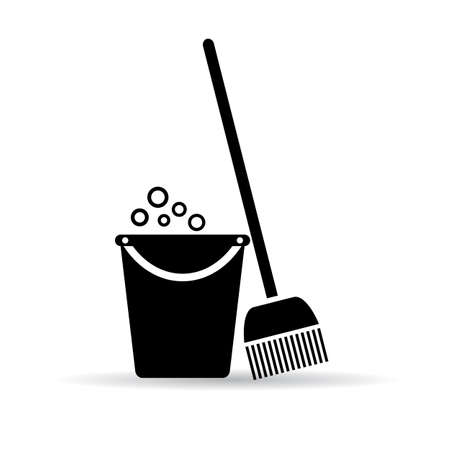 clean up: Cleaning tools icon