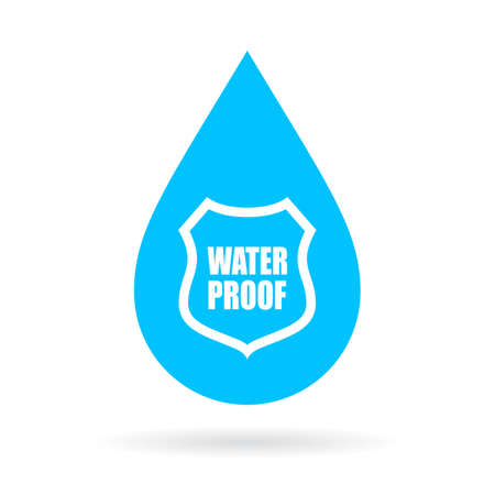 proof: Water proof drop icon Illustration