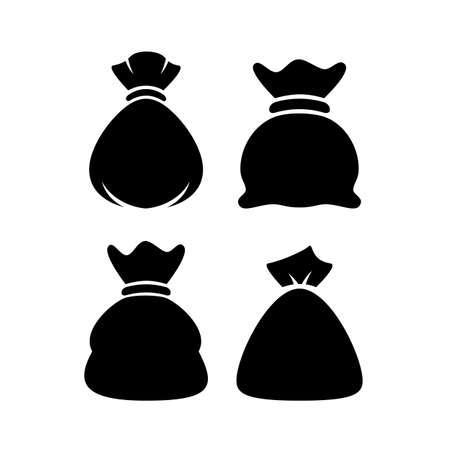 sack: Vector bag sack icons set