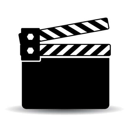 cinematograph: Black clapper board icon