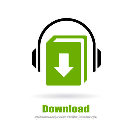 mp3 player: Audio book download green logo