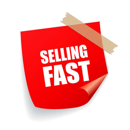 Verkauf schnell Aufkleber Vektorgrafik