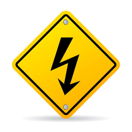 volte: High voltage lightning warning sign
