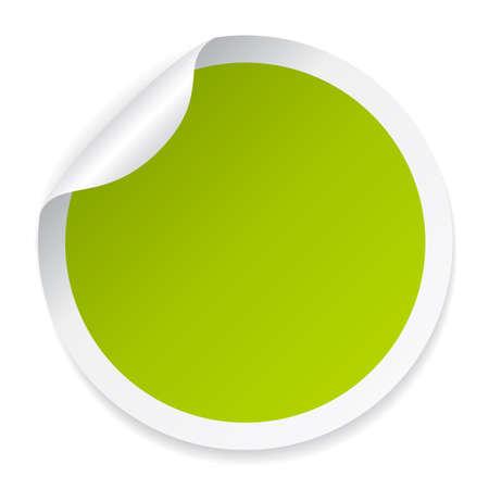 adhésif rond vert