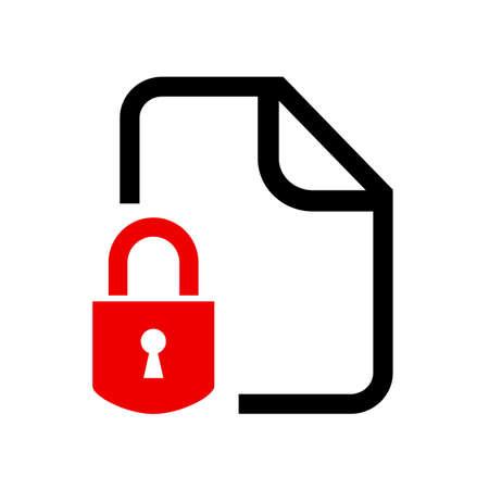 documento bloccato Segreto Vettoriali
