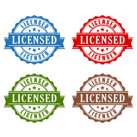 authorized: Licensed rubber stamps set