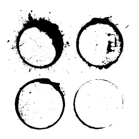 Abstract paint splash circles
