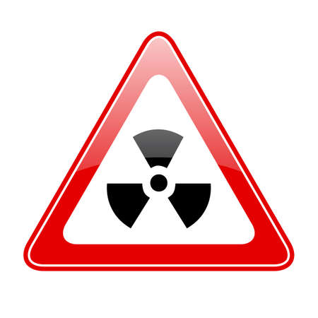 perilous: Radiation warning sign Illustration