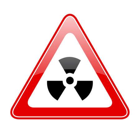 radiacion: señal de advertencia de radiación